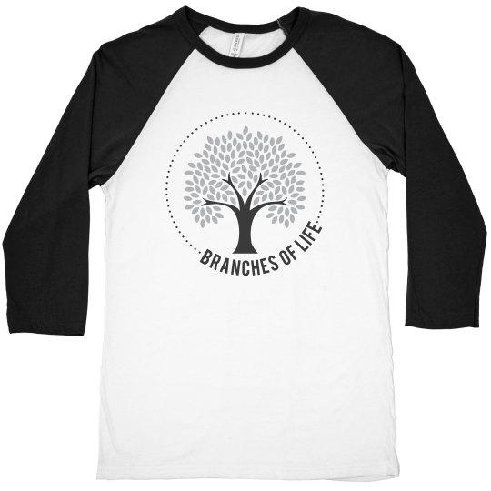 Men's/Unisex 3/4 Sleeve Baseball T-Shirt