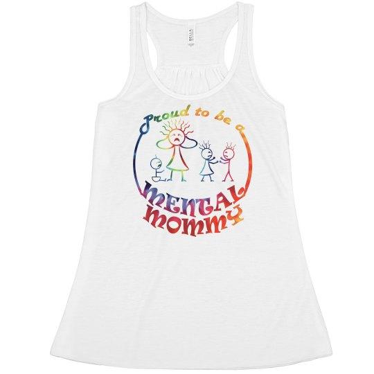 Mental Mommy Flowy Tank (tie-dye)