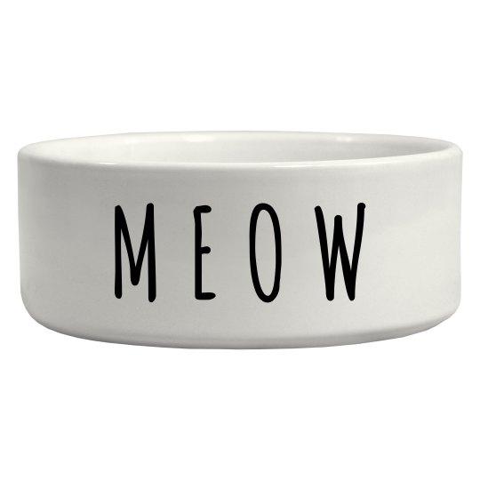 Meow Trendy Cat Pet Bowl