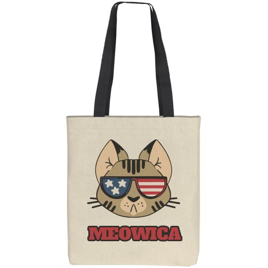 Meowica USA Cat Pun July 4th Bag