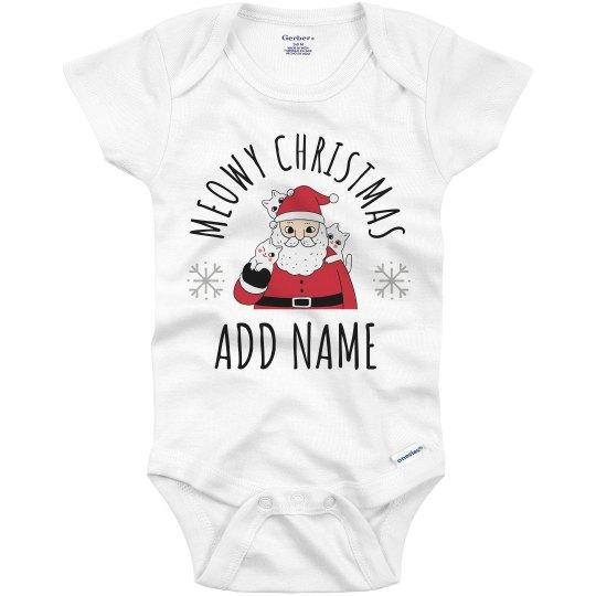 Meowy Christmas Add Baby Name