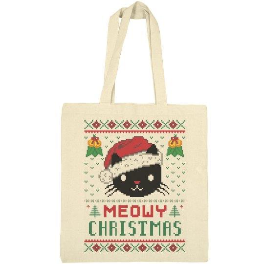 Meowy Christmas Bag