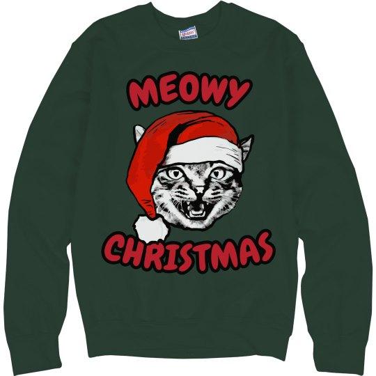 Meowy Christmas Cat Hat