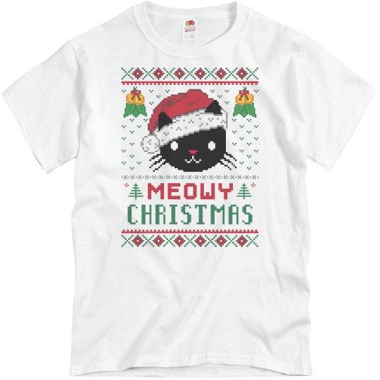 Meowy Christmas Cat Shirt