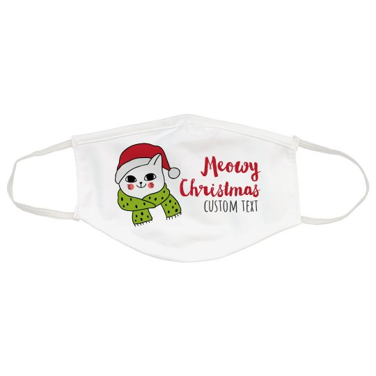 Meowy Christmas Custom Cat Mask