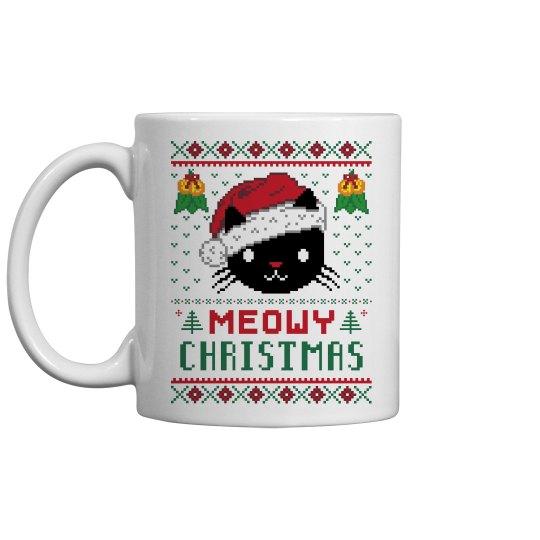 Meowy Christmas Mugs