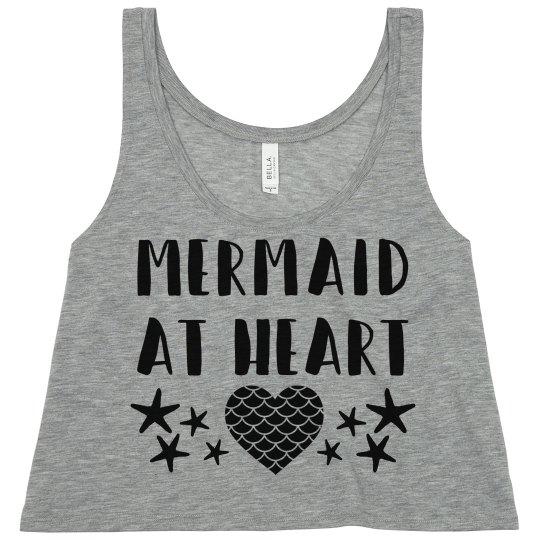 Mermaid At Heart Crop Tank