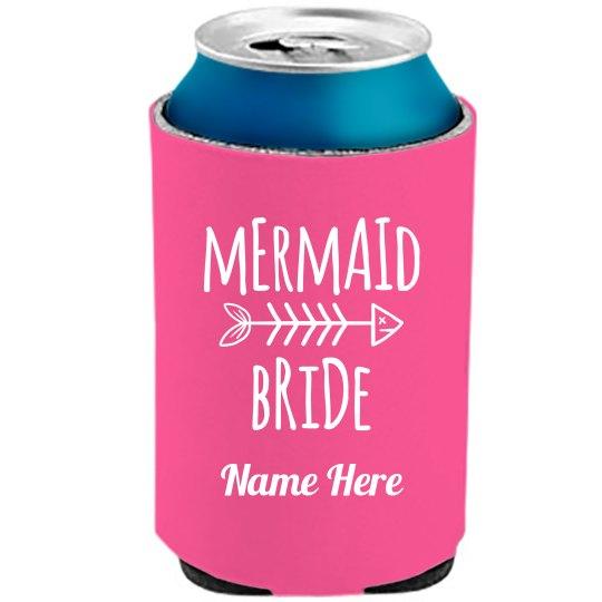 Mermaid Bride Tribe Neon Koozie