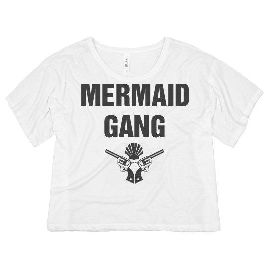 Mermaid Gang Vintage Crop Top