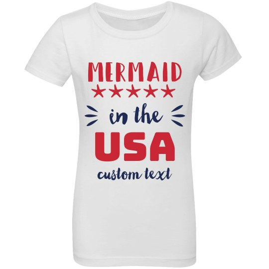 Mermaid in the USA Custom Girls Tee