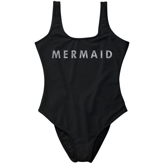 Mermaid Metallic Silver One Piece