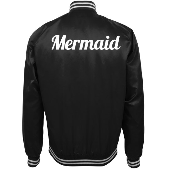 Mermaid Script Bomber Jacket