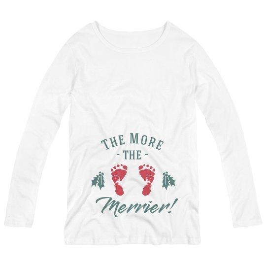 Merrier Baby Announcement Top