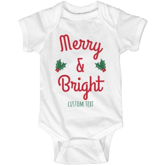 Merry & Bright Baby Bodysuit