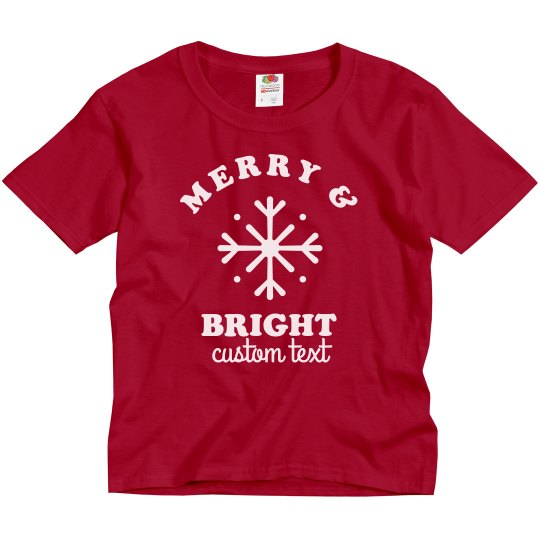 Merry & Bright Youth Holiday Tee