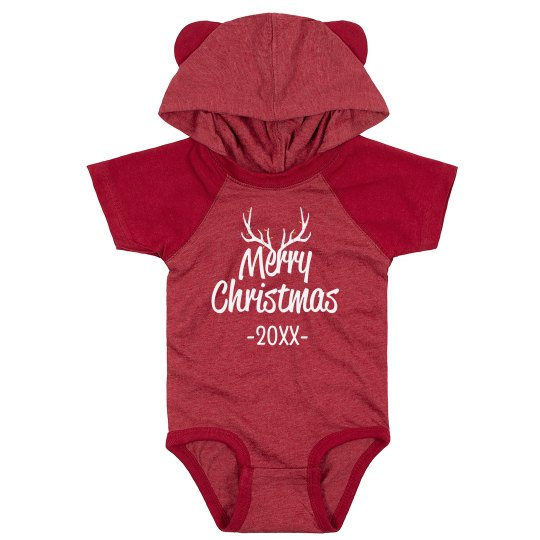 Merry Christmas Custom Date Bodysuit