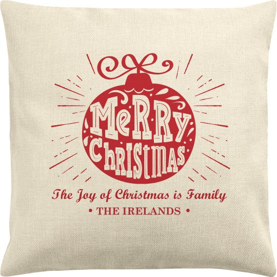 Merry Christmas Custom Family Gift