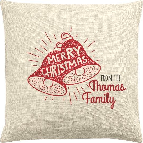 Merry Christmas Custom Family Pillow