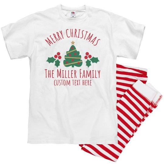 Merry Christmas Holiday Family Pajamas