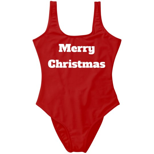 Merry Christmas One Piece Women's Swimsuit