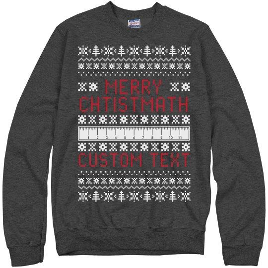 Merry Christmath Custom Sweater