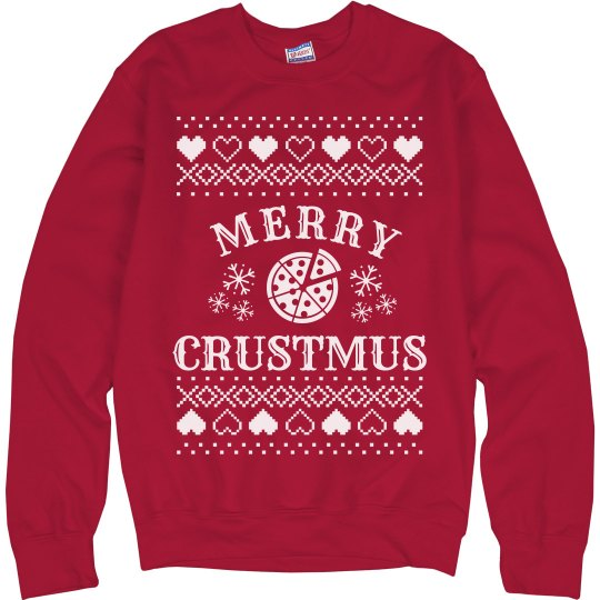 Merry Crustmus Pizza Ugly Sweater