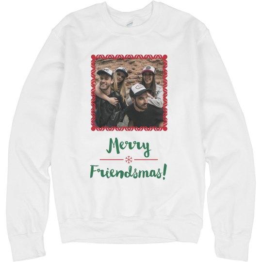 Merry Friendsmas Custom Photo Sweater