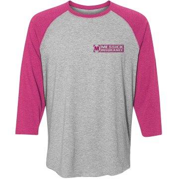 Messick Raglan - hot pink