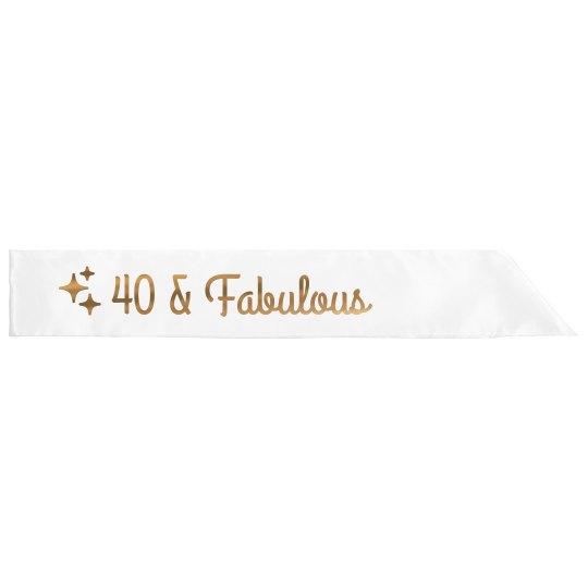 Metallic 40 & Fabulous Birthday