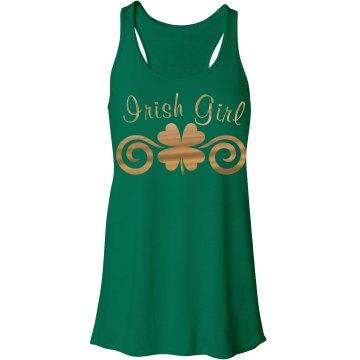 Metallic Clover Swirl Irish Girl