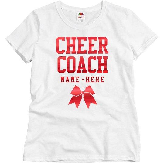 Metallic Custom Cheer Coach Design