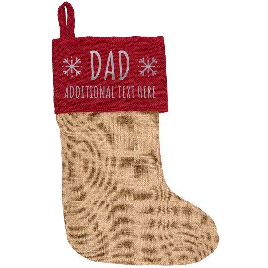 Metallic Custom Christmas Dad