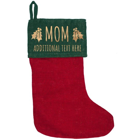 Metallic Custom Christmas Mom