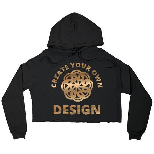Metallic Custom Crop Sweatshirt
