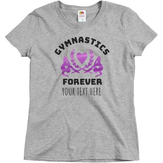 Metallic Custom Gymnastics Forever