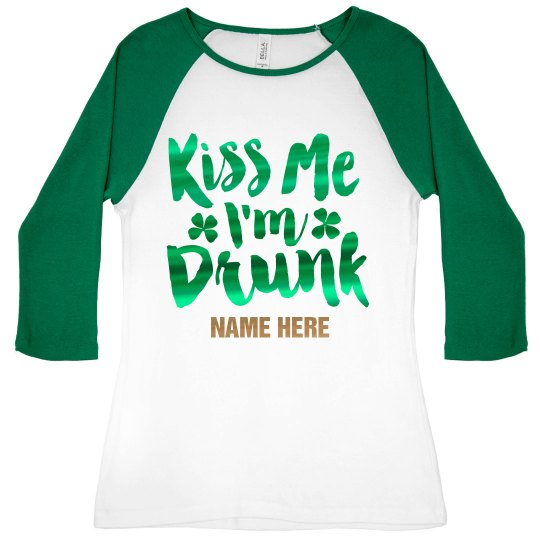 Metallic Custom Kiss Me Raglan