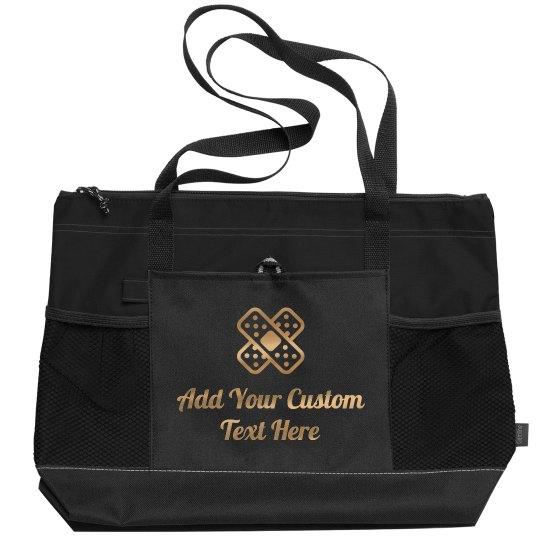 Metallic Custom Text Nurse Bag Gift