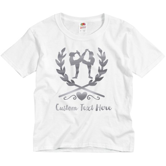 Metallic Design Gymnast Emblem Custom Kids Tee