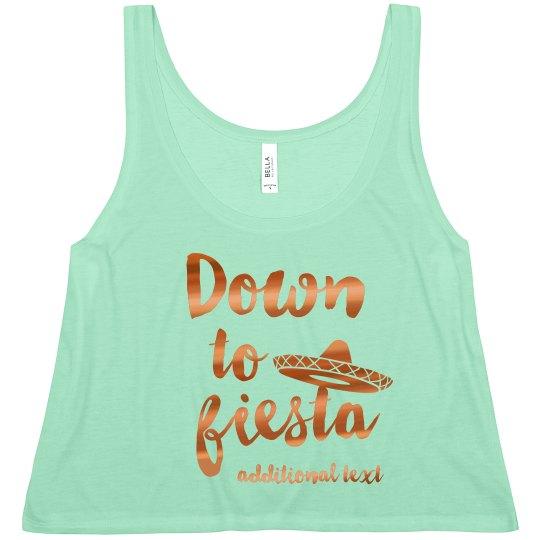 Metallic Down To Fiesta Crop