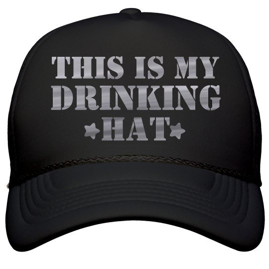 Metallic Drinking Hat Spring Break
