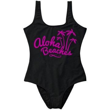 Metallic Fuschia Aloha Beaches