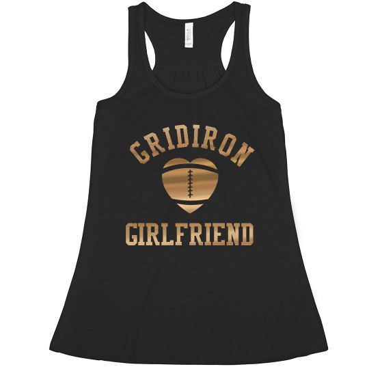 Metallic Gold Football Gridiron Girlfriend Design