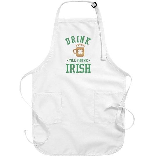 Metallic Irish Drunk Apron