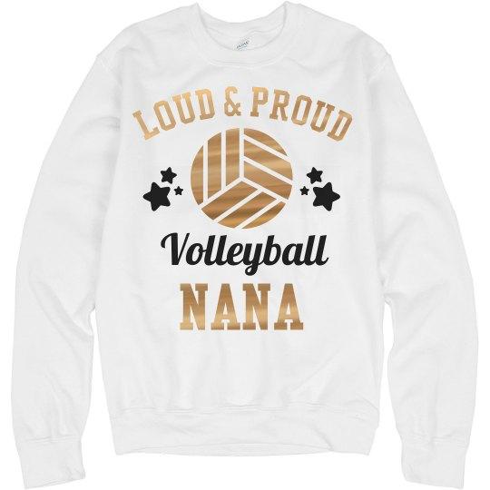 Metallic Loud Proud Volleyball Nana