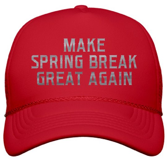Metallic Make Spring Break Great Again Film And Foil Solid