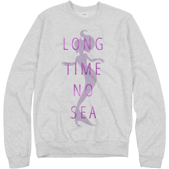 Metallic Mermaid Puns Sweatshirt