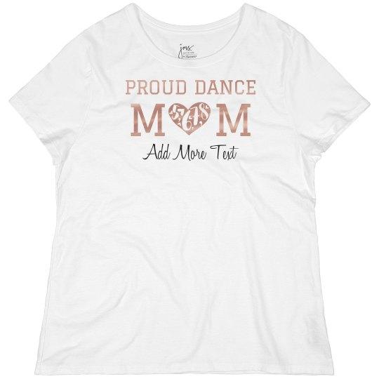 Metallic Proud Dance Mom