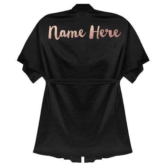 Metallic Rose Gold Custom Name