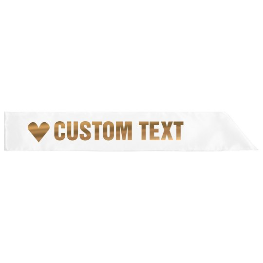 Metallic Rose Gold Custom Text