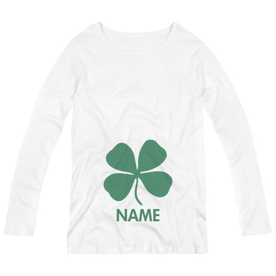 Metallic Shamrock Irish Custom Name